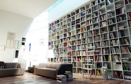Full Height Recessed Bookshelf